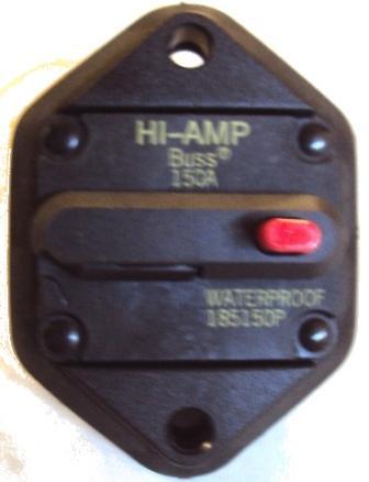 6120-1095 Bussmann 185150P 150A Breaker also BUS-185150P-07-1